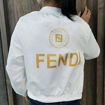 FENDI Fashion Long Sleeve Cardigan Jacket Coat Windbreaker