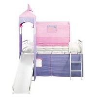 Badcock - Gracie Collection Twin Castle Loft Bed with Slide and Ladder