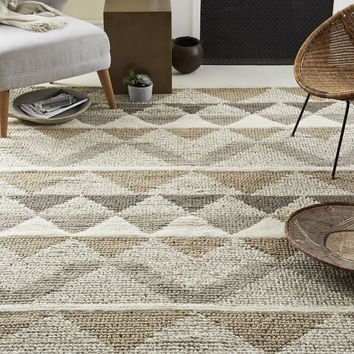 Knotted Triangle Wool Rug