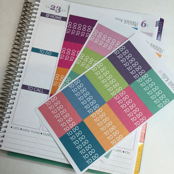 S12 M/D/N COVER Stickers for Erin Condren Life Planner - 56 Removable Matte Stickers