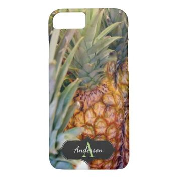 Pretty Pineapple Monogrammed iPhone 7 Case