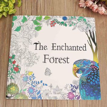 The Enchanted Forest Adult English Graffiti Coloring Children Painting Books Educational Drawing Toys Gift For Children