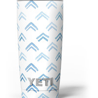 The Blue Upwards Arrow Pattern Yeti Rambler Skin Kit