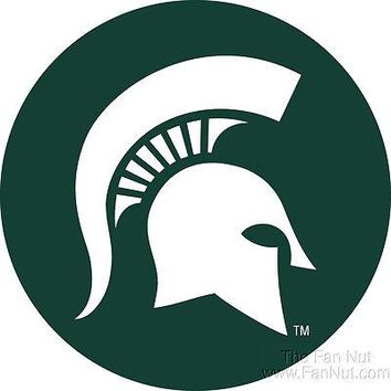 "Michigan State Spartans RR 4"" Round Vinyl Magnet Auto Home University of"
