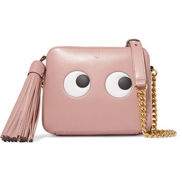 Anya Hindmarch - Eyes embossed leather shoulder bag