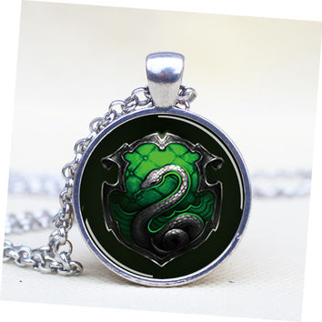 pendant harry potter salazar slytherin snake pendant necklace,house of hogwarts school of witchcraft and wizardry vintage pendant