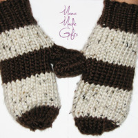 Hand Knitted Adult Mittens