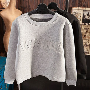 2016 Winter Hoodies for Men and Women 3D embossing Print Letter O-Neck Long sleeve Space Cotton Sweatshirts Unisex hoodie