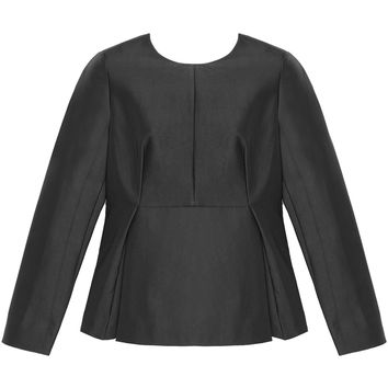 Soho Black Peplum Top