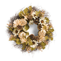 30in Faux Sunflower And Pumpkin Wreath - Harvest - T.J.Maxx