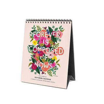 RIFLE PAPER CO 2019 INSPIRATIONAL QUOTE DESK CALENDAR