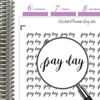 Pay Day Stickers Planner Pay Day Planner Stickers Functional Planner Text Stickers Erin Condren Stickers Happy Planner Rainbow Stickers it10