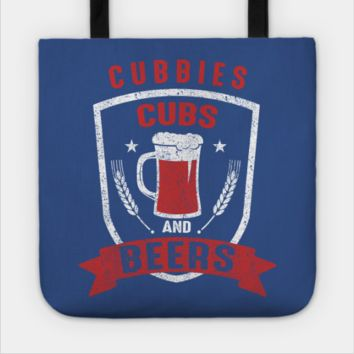Cubbies And Beer Baseball Tote Bag