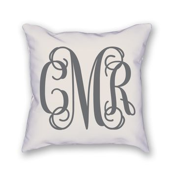 Custom Monogram Pillow