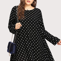 Allover Star Print Dress -SheIn(Sheinside)