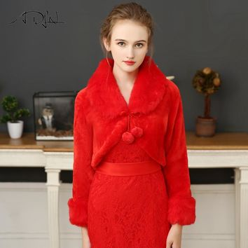 Red Wedding Jacket Bolero Bridal Wrap For Party Dress