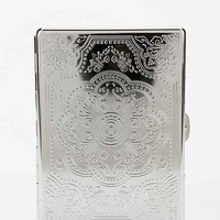 Embossed Metal ID Case- Silver One