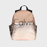 Calvin Klein Women College Leather Satchel Bookbag Backpack
