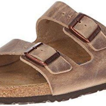 Birkenstock Unisex Arizona Tobacco Oiled Leather Sandals - 42 M EU/11-11.5 B(M) US Wom