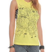 SpongeBob SquarePants Freakouts Muscle Girls Top
