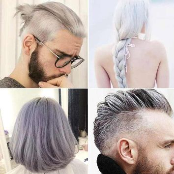 Hot Fashion Hair Styling Pomade 2017 DIY Hair Clay Wax Mud Dye Cream Grandma Hair Ash Dye Temporary Drop Shipping