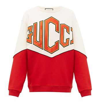 GUCCI Autumn Winter New Women Men Fashion Embroidery Round Collar Cute Sweatshirt Sweater