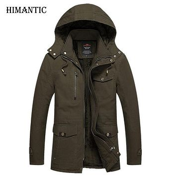 Winter Jacket Men Casual Cotton Thick Warm Coat Men's Outwear Parka Coats Windbreak Snow Military Jackets