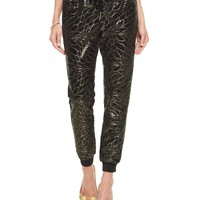 Leaf Sequin Track Slim Comfy Pant by Juicy Couture