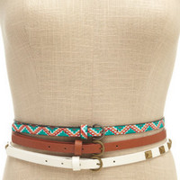 Charlotte Russe - Studded Tribal Skinny Belts