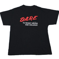 """Vintage DARE Shirt """"Dare to Resist Drugs"""" Mens Size Large"""