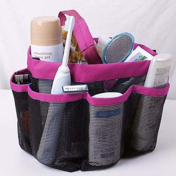Shower Bath Caddy Cosmetics Organizer Portable Storage Tote Carry Hanging Bag