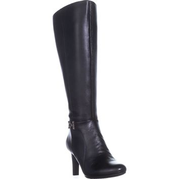 Bandolino Lamari Wide Calf Fashion Boots, Black, 7 US