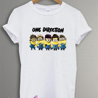 HOT one direction shirt 1D shirt tshirt t-shirt tee shirt printed black and white color unisex size