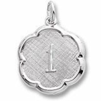 Numb 1 Charm In Sterling Silver