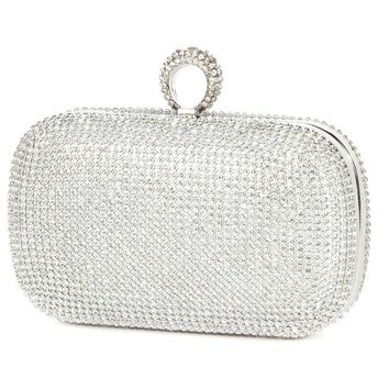 New Fashion Women Evening Bags Diamond Studded Wedding Party Clutches Purses With Chain Shoulder Handbag Bag Silver/Gold/Black