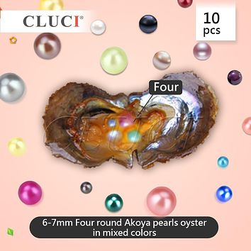 40pcs mixed colors skittle Pearls in 10 Oysters, 4 pearls in each with vacuum-packing, AAA saltwater pearls