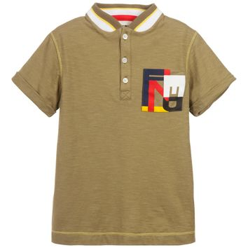 Fendi Boys Olive T-shirt