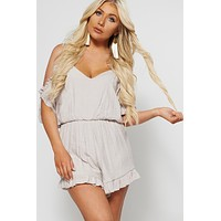 Blogger Babe Ruffle Romper (Shell)