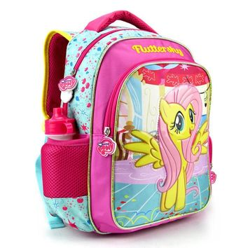 2017 new children cartoon my little pony schoolbag girl lovely backpack schoolbag For children children Christmas gift bags15787