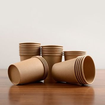 Paper Coffee Cup Disposable Paper Cup With Lid Cover Eco Friendly 100pcs/pack