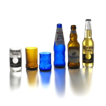 Glass Cup-Cut from Beer Bottles