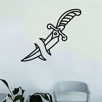 Dagger Wall Decal Home Decor Art Bedroom Room Sticker Vinyl Tattoo Traditional