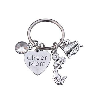 Cheer Mom Keychain