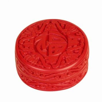 Chinese Cinnabar Jewelry Box -Good Fortune Symbol From JL Rocken