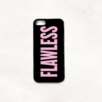 FLAWLESS Beyoncé pink case iPhone 5 5s & 4 4s Hard Case Black/White/Transparent Grunge Indie Hipster Tropical Summer Tumblr One direction