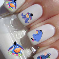 Eeyore 20 images Nail WaterSlide Transfer Decal Art Nail