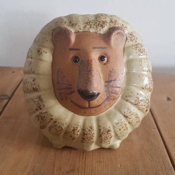 Vintage Gempo Lion Money Box Made in Japan , Retro Piggy Bank , Christmas Gift Ideas