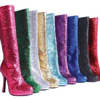"4"" Knee-High Boot with Glitter. Womens."