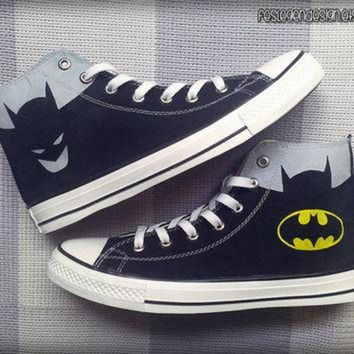 VONR3I Batman Custom Converse / Painted Shoes