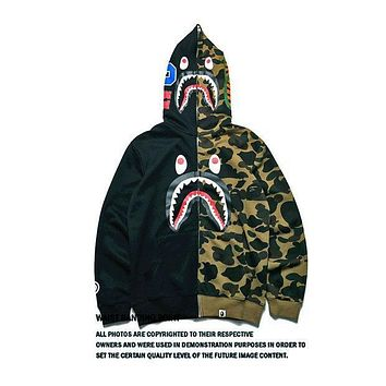 DCCK8H2 Bape Shark Hoodies Zippers Hats Korean Couple Casual Jacket